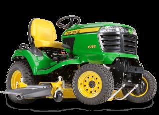 John Deere X758 tractor mower